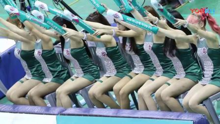 180307 韩国职业篮球联赛 啦啦队美女 加油助威