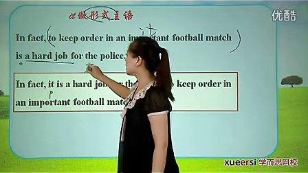 (1)语法 it用法(一)作形式主语形式宾语词汇选修6(Unit3)(2012高二英语同步强化班名师教学视频11讲)
