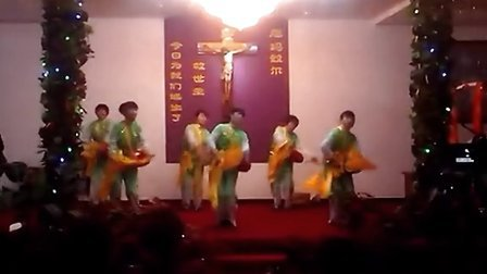 温岭天主教堂元旦表演腰鼓舞