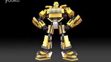积木变形金刚大黄蜂玩具
