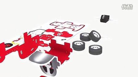 立图出品卡丁车立体拼图diy视频