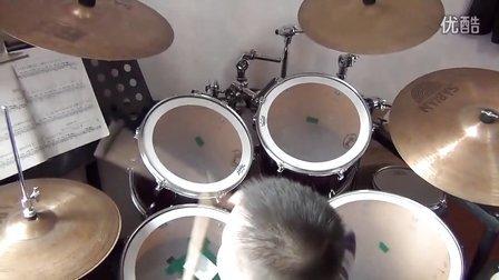 架子鼓演奏:蓝精灵之歌——崔童凯视频