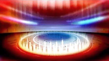 led大屏幕素材 视频素材 vj动态背景素材 旋转演播厅3 演播厅