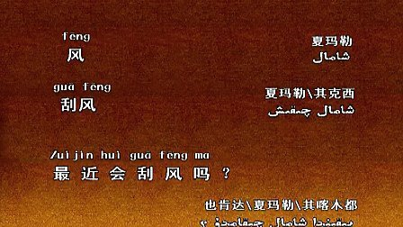 冬火无焰:新疆维语学习双语学习第31集(维汉)