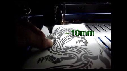 激光雕刻机-双色板龙纹图案雕刻-深圳凯旋激光
