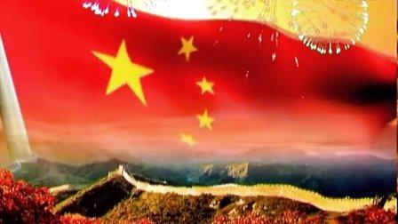 长城国旗 晚会led大屏幕 动态演出背景视频素材 vj演艺素材