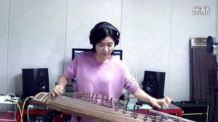 Luna Lee一位美女演奏的伽倻琴Voodoo Chile