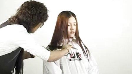 美发剪发烫发盘发扎发视频