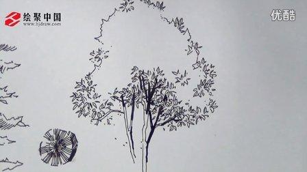绘聚中国徐志伟单体植物线稿教学
