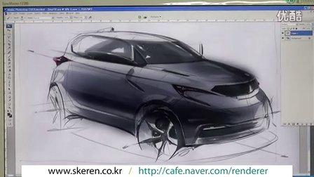汽车手绘马克笔快速表现教学视频28