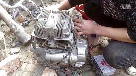 钱江150-j双缸发动机