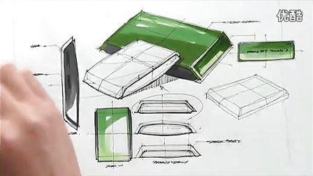 产品手绘马克笔快速表现教学视频24