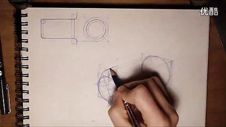 产品手绘两点透视教程2