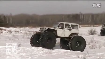 改装uaz越野车大脚 雪地越野