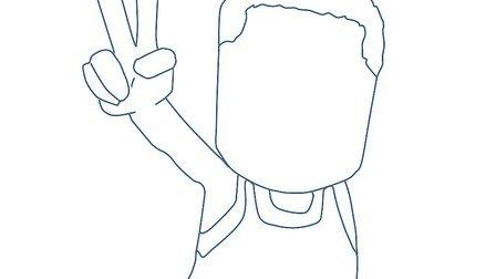 手绘线描立体图像ppt