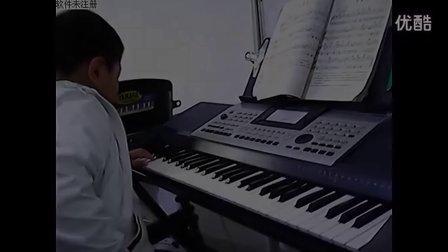 老黑奴电子琴谱