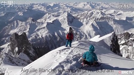 徒步雪山之巅只为一滑而下的极速快感【牛男运动】