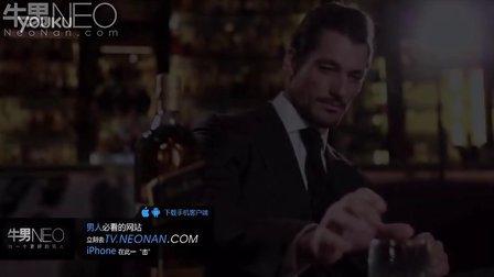 """品味男人""""大卫·甘迪""""尊尼获加蓝牌威士忌【牛男时尚】"""
