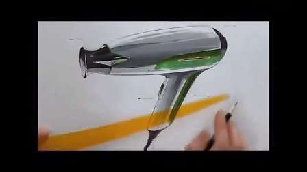 如何用马克笔手绘吹风机设计方案视频教程