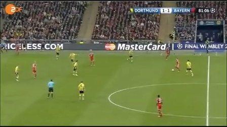 2012/2013年欧冠决赛: 多特蒙德1-2拜仁 (下半场)