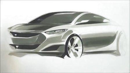 汽车手绘马克笔快速表现教学视频31