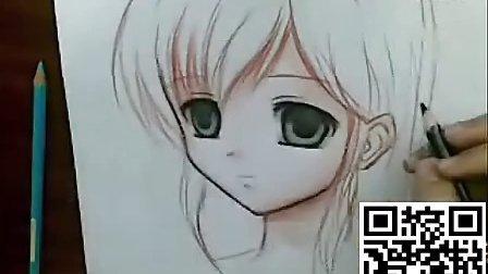手绘漫画教程之水彩铅笔画动漫人物的画法