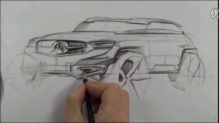 工业设计韩国sangwon seok汽车马克笔手绘视频教程