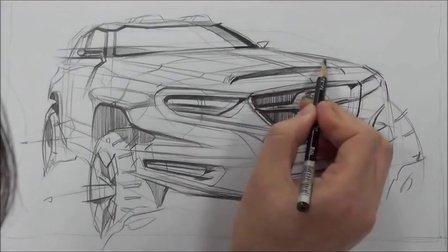 seok汽车马克笔手绘视频教程