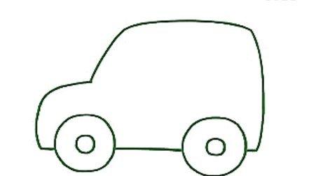 简笔画教程 第05集-吉普车