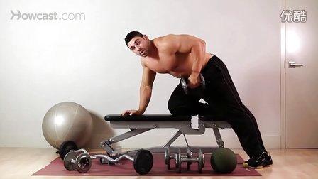哑铃划船-背阔肌锻炼视频