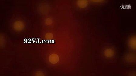 010-19韩版婚庆 红色背景 金色圆点 颗粒