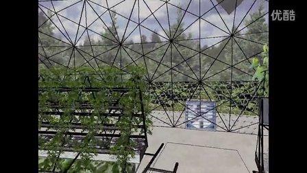 钢结构树一可以为大厅提供绿荫