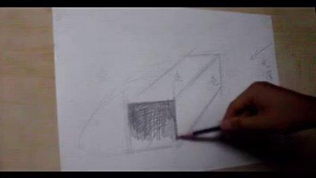 光影素描入门第2课,长方体的光影画法图片