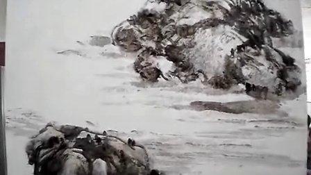 山水画技法教学视频 向德金