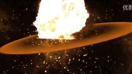 星球爆炸矢量图