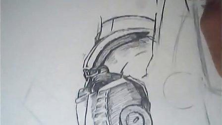 佚名℡:擎天柱面部特写中性笔画