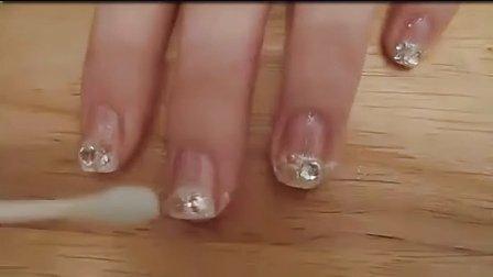 图案 美甲 视频/美甲教程3D水晶粉雕花取粉技巧初级美甲彩绘拓展图案制作步骤