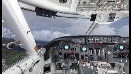 模拟飞行2004 fs9 中华航空742b启德飞台北视频