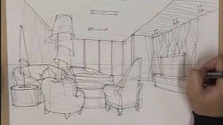 室内设计师手绘描线稿