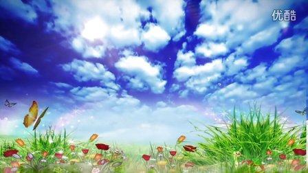 14第一传媒-春天蓝天白云舞台背景素材(含音乐)