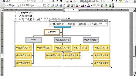 office 2003 word 组织结构图