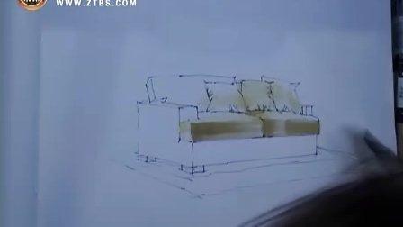 庐山手绘艺术特训营 陈红卫-沙发的表现技法