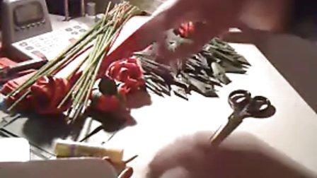 川崎玫瑰花朵,花萼,花茎折法