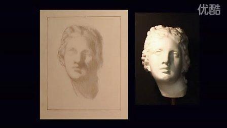 素描石膏鼻子结构图