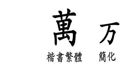 八零后汉字讲坛(正月初三:万)繁体字每日一课 事如意暗藏杀机图片