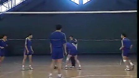 排球视频教学:32(进攻战术、二传、防守)