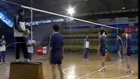 排球视频教学:23(拦网训练、扣球训练、防守训练)