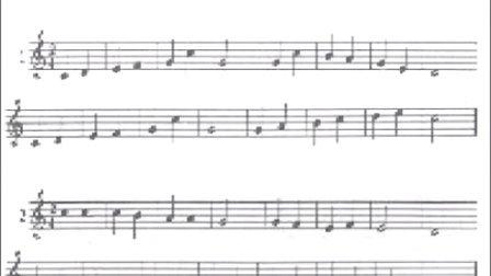在优酷上五线谱 视唱练耳视频的谱子