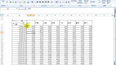 06-探究Excel2007斜线表头