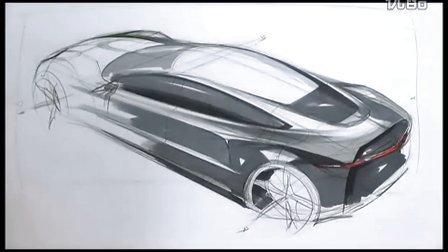 工业设计汽车手绘马克笔快速表现教学视频7